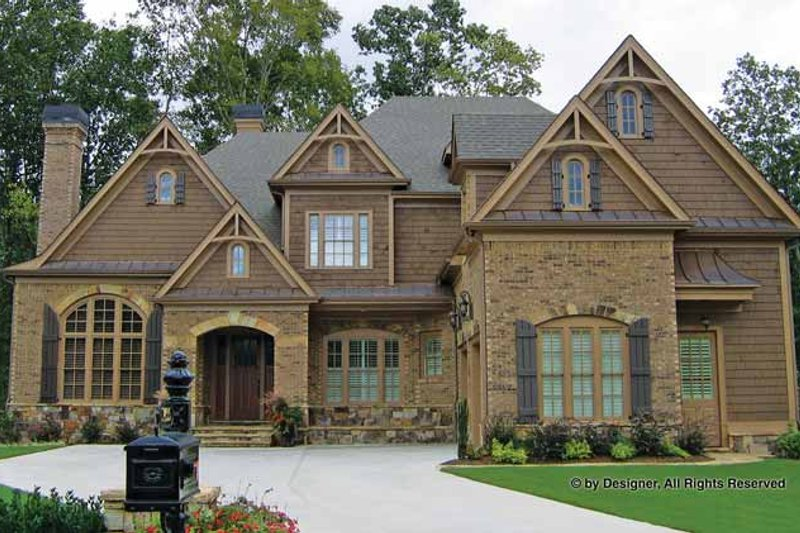 House Plan Design - Craftsman Exterior - Front Elevation Plan #54-345