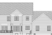 Country Style House Plan - 4 Beds 3.5 Baths 3609 Sq/Ft Plan #75-189 Exterior - Rear Elevation