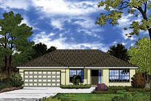 Home Plan - European Exterior - Front Elevation Plan #417-825