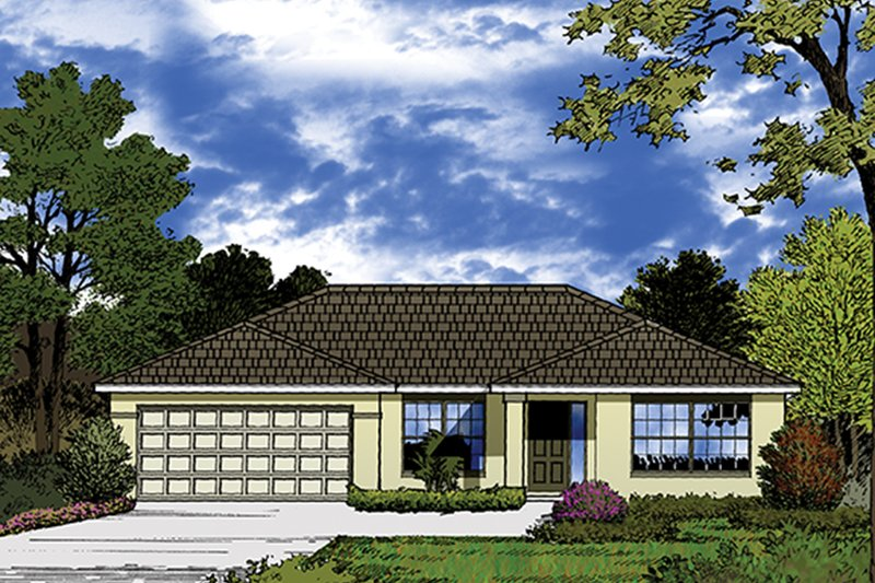 European Exterior - Front Elevation Plan #417-825