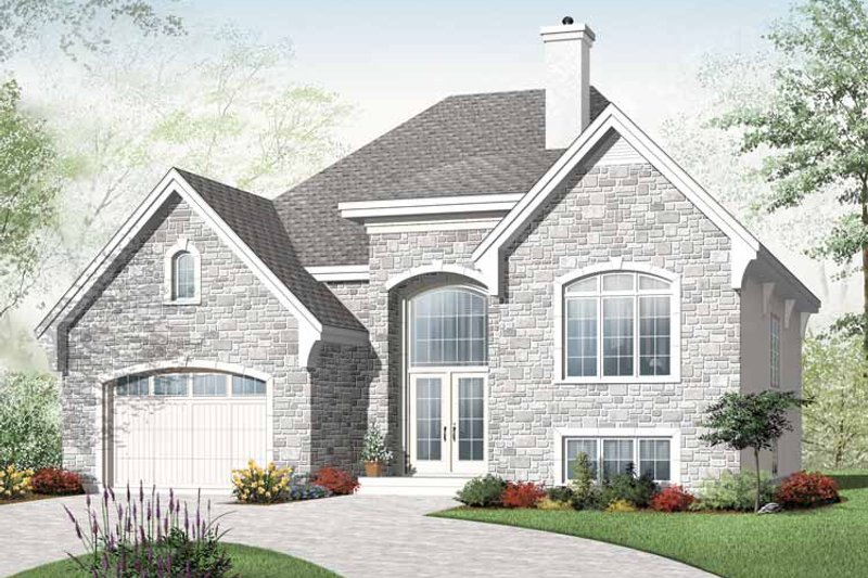 House Plan Design - European Exterior - Front Elevation Plan #23-2385