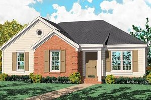 Southern Exterior - Front Elevation Plan #81-124