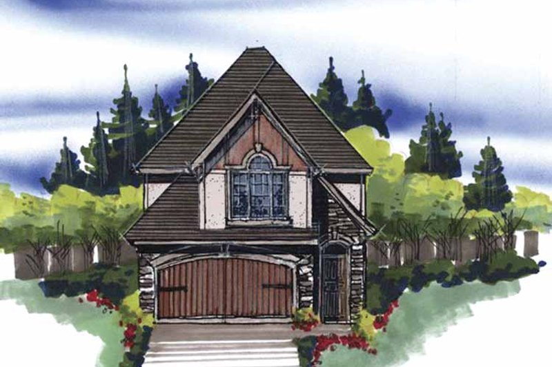 Cottage Exterior - Front Elevation Plan #509-140