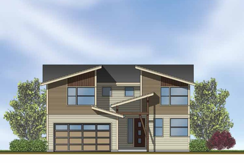 Home Plan - Contemporary Exterior - Front Elevation Plan #569-11