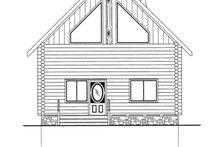 Log Exterior - Front Elevation Plan #117-821