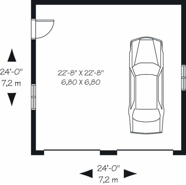 Craftsman Floor Plan - Main Floor Plan Plan #23-772
