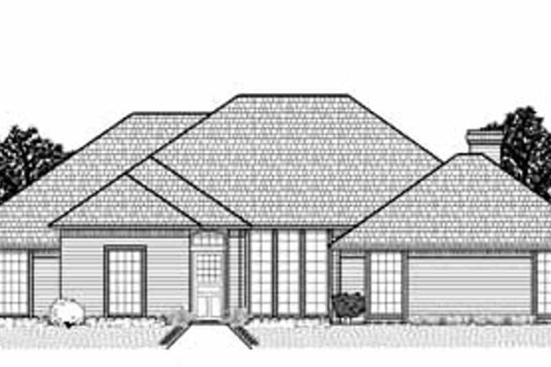 Traditional Style House Plan - 3 Beds 2.5 Baths 2454 Sq/Ft Plan #65-149 Exterior - Front Elevation