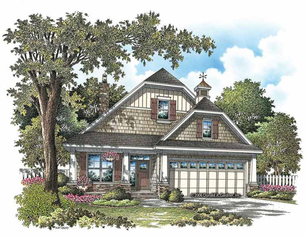Craftsman style house plan 3 beds 3 baths 1819 sq ft for 3 car garage square footage