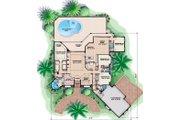 Mediterranean Style House Plan - 4 Beds 4.5 Baths 5015 Sq/Ft Plan #27-523 Floor Plan - Main Floor Plan
