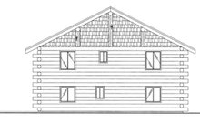 Log Exterior - Rear Elevation Plan #117-827