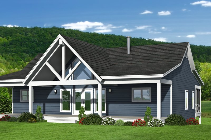 Country Style House Plan - 4 Beds 3 Baths 2569 Sq/Ft Plan #932-310 Exterior - Front Elevation