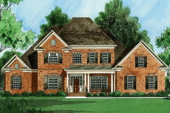 Traditional Exterior - Front Elevation Plan #1054-23