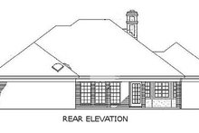 Home Plan Design - Traditional Exterior - Rear Elevation Plan #45-138