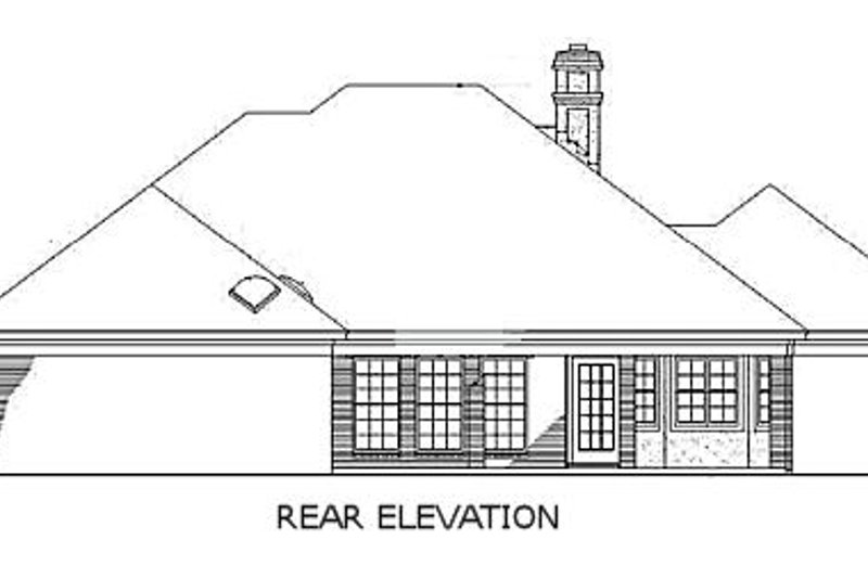 Traditional Exterior - Rear Elevation Plan #45-138 - Houseplans.com