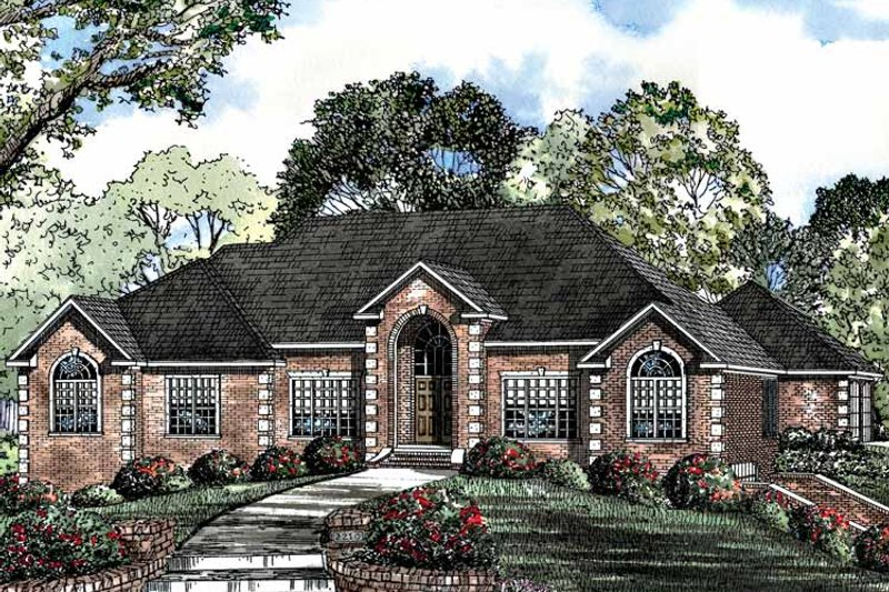 Traditional Exterior - Front Elevation Plan #17-2939 - Houseplans.com