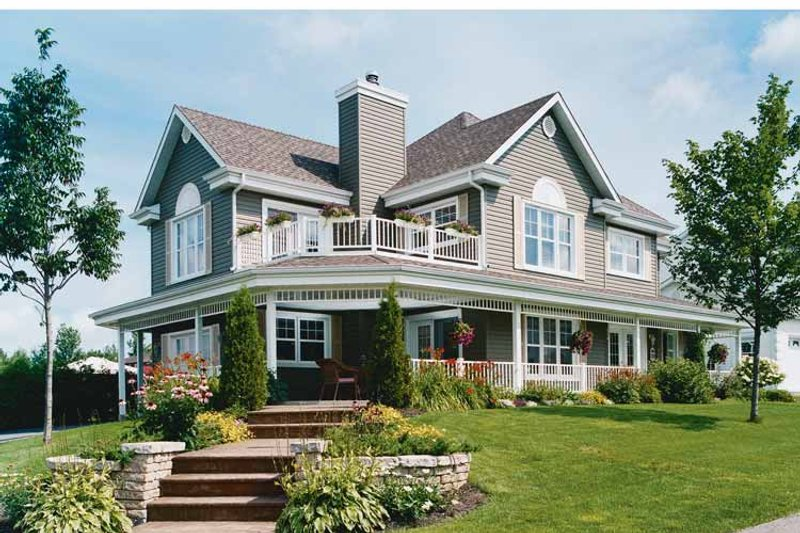Country Exterior - Front Elevation Plan #23-2417 - Houseplans.com