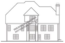 Dream House Plan - European Exterior - Rear Elevation Plan #927-190