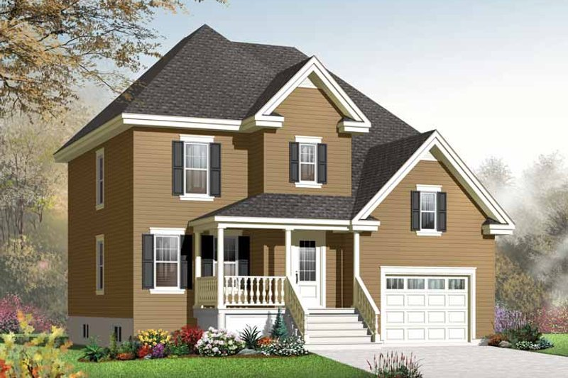 Country Exterior - Front Elevation Plan #23-2538 - Houseplans.com