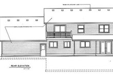 Colonial Exterior - Rear Elevation Plan #100-225