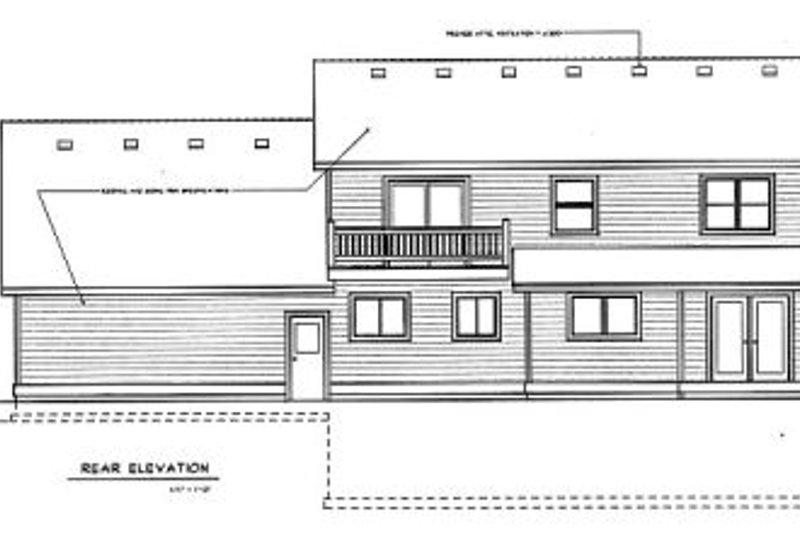 Colonial Exterior - Rear Elevation Plan #100-225 - Houseplans.com