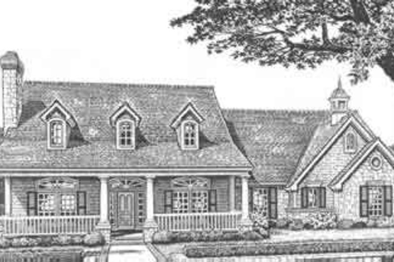 Farmhouse Exterior - Front Elevation Plan #310-416 - Houseplans.com