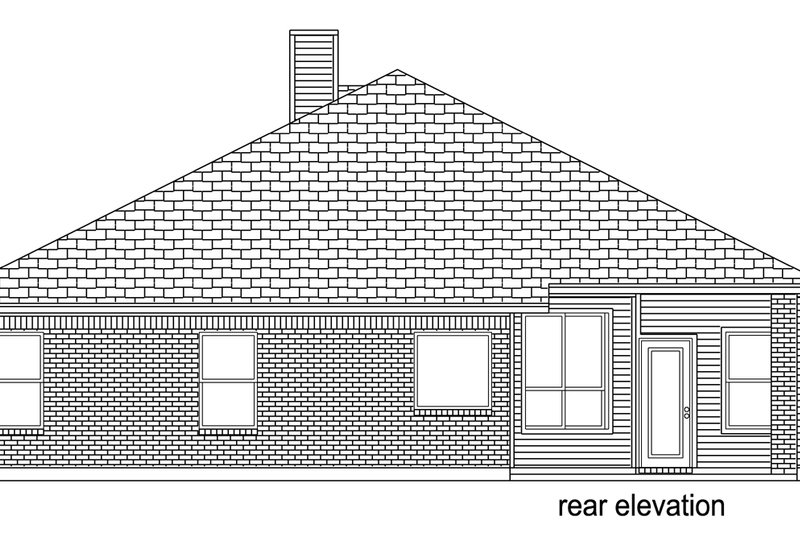 Traditional Exterior - Rear Elevation Plan #84-614 - Houseplans.com