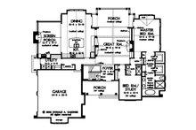 Craftsman Floor Plan - Main Floor Plan Plan #929-861