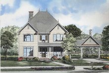 Classical Exterior - Front Elevation Plan #17-2857