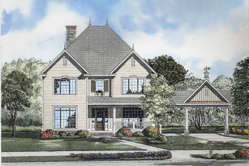 Dream House Plan - Classical Exterior - Front Elevation Plan #17-2857