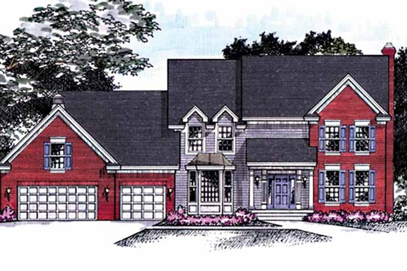 Colonial Exterior - Front Elevation Plan #51-945