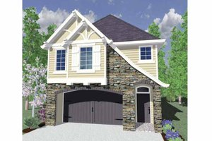 Architectural House Design - Country Exterior - Front Elevation Plan #509-173