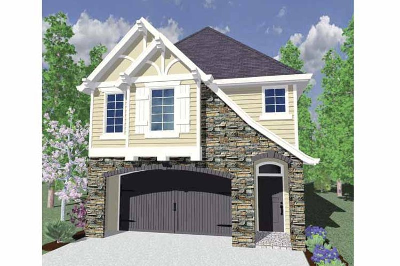 Country Exterior - Front Elevation Plan #509-173 - Houseplans.com