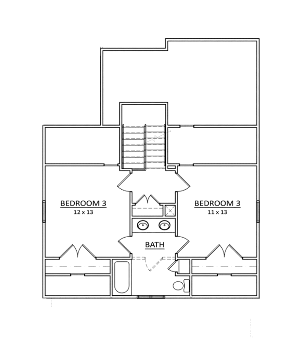 Craftsman Floor Plan - Upper Floor Plan Plan #936-8