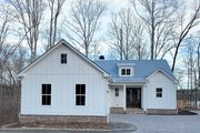 Farmhouse Style House Plan - 3 Beds 3.5 Baths 2741 Sq/Ft Plan #437-97 Exterior - Front Elevation