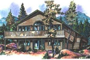 Traditional Exterior - Front Elevation Plan #18-9112