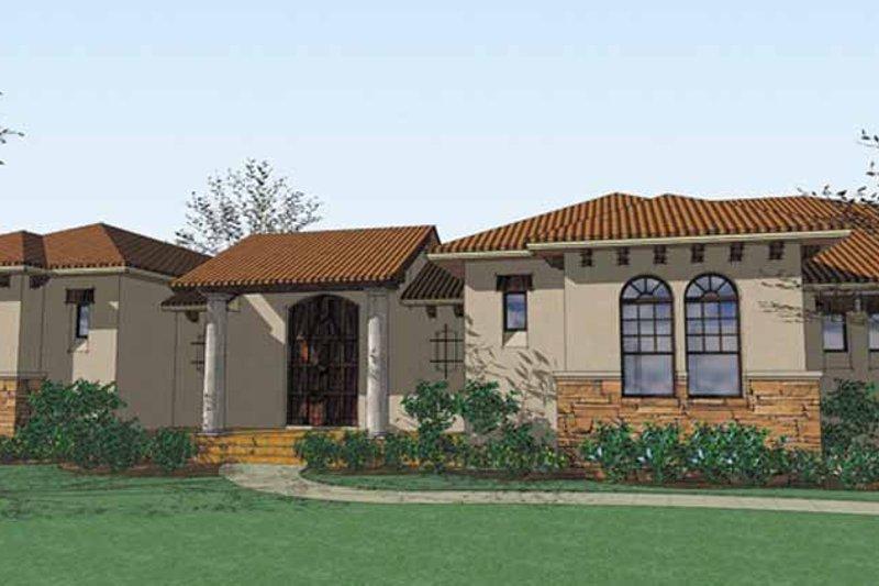House Plan Design - Mediterranean Exterior - Front Elevation Plan #120-204