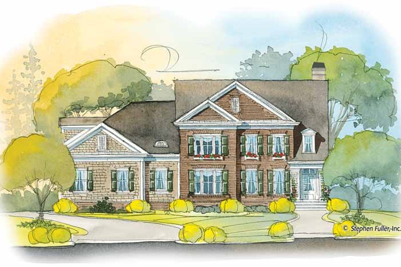 Colonial Exterior - Front Elevation Plan #429-407