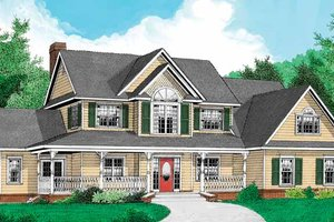 House Design - Country Exterior - Front Elevation Plan #11-270