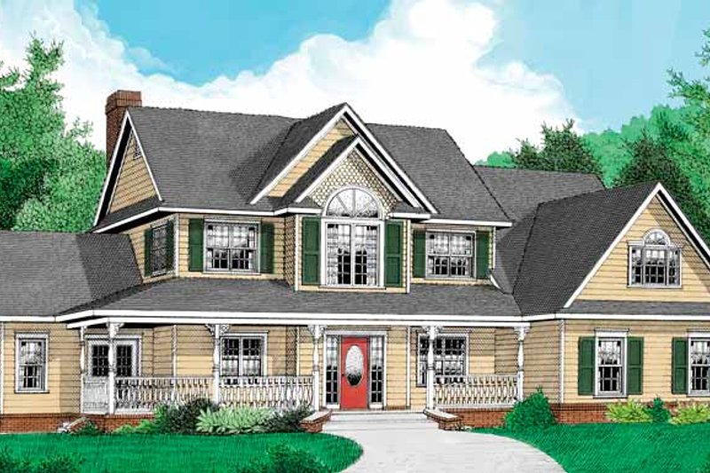 House Plan Design - Country Exterior - Front Elevation Plan #11-270