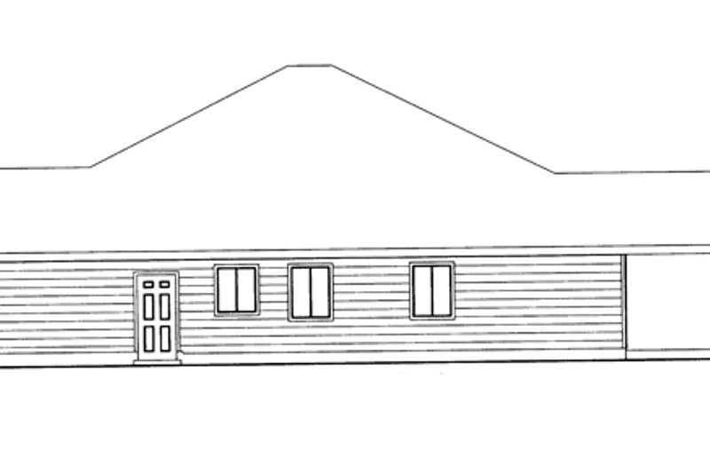 Ranch Exterior - Other Elevation Plan #117-852 - Houseplans.com