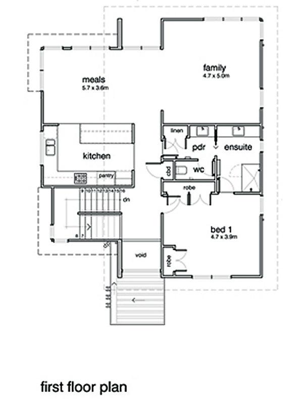 Modern Floor Plan - Main Floor Plan Plan #496-20