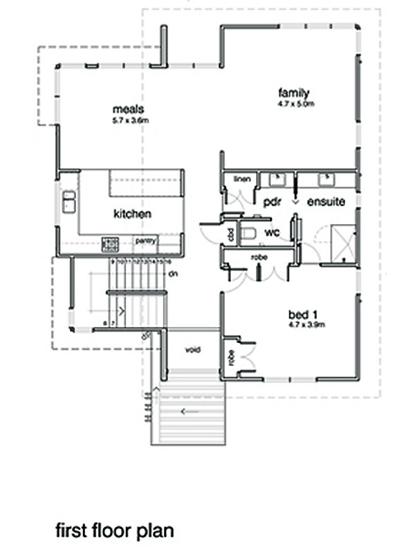 Modern Floor Plan - Main Floor Plan #496-20