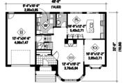 European Style House Plan - 4 Beds 2 Baths 2330 Sq/Ft Plan #25-4418