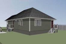 Cottage Exterior - Rear Elevation Plan #79-115