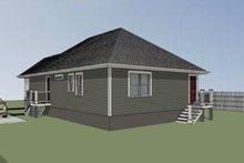 Cottage Exterior - Rear Elevation Plan #79-115