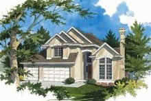 Architectural House Design - Mediterranean Exterior - Front Elevation Plan #48-177