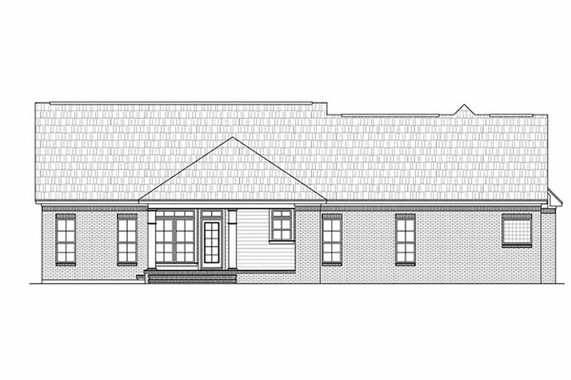 Southern Exterior - Rear Elevation Plan #21-218 - Houseplans.com