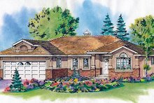 Traditional Exterior - Front Elevation Plan #18-1004