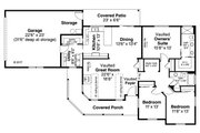 Country Style House Plan - 3 Beds 2 Baths 1786 Sq/Ft Plan #124-1066 Floor Plan - Main Floor Plan