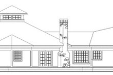 Home Plan - Traditional Exterior - Rear Elevation Plan #124-146